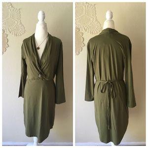 Synergy Organic Clothing waist tie crossover dress